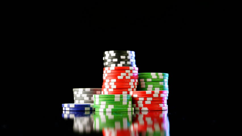 Casino chips stacks. Time lapse.