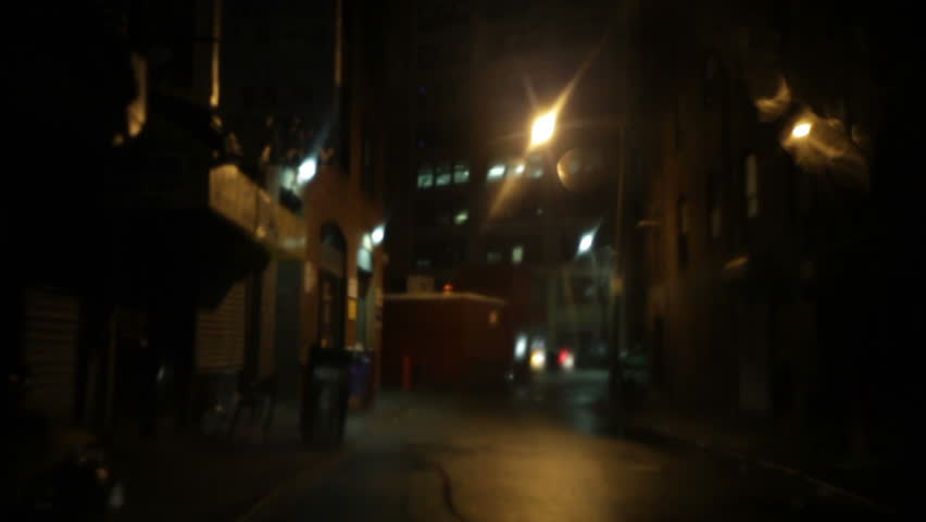 chinatown alley at night in rain, Boston, Massachusetts
