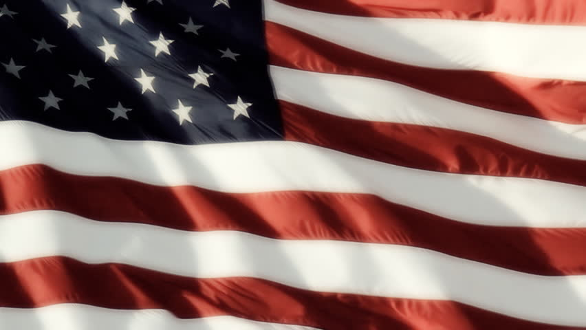 Classic Flag Smooth. Real video of a large American flag blowing in the wind, shot at a high frame rate and slowed to 25% for a very smooth, buttery movement. | Shutterstock HD Video #3228625
