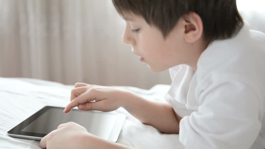 Child with tablet computer - HD stock video clip
