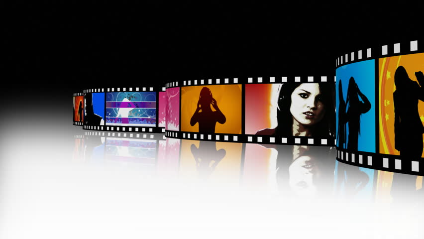 Music and dance Film Reel - HD stock video clip