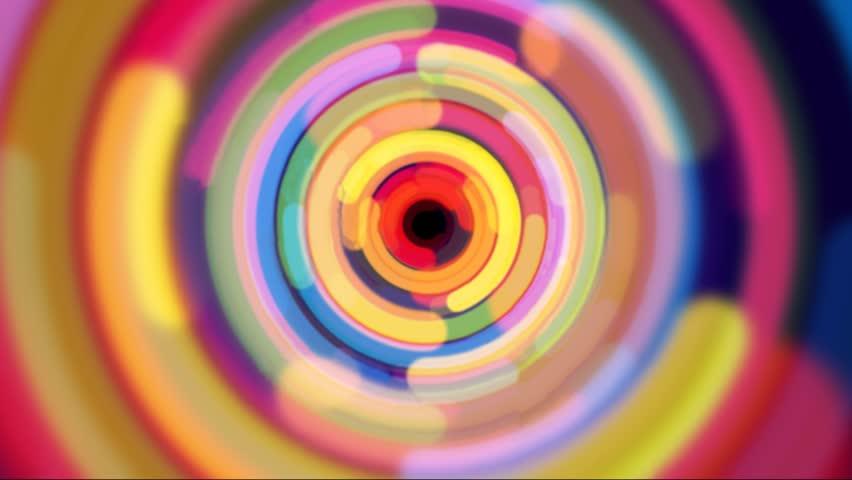 Zoom in rainbow color half circle design