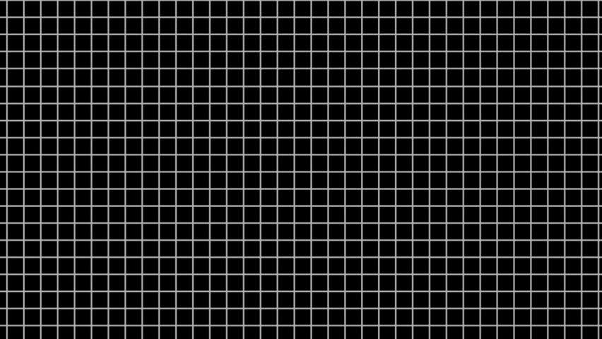 2D White Line Grid Randomly Flip Over With Black ...