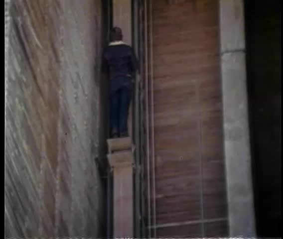 Man Walking On A Footbridge Stock Footage Video 3054508