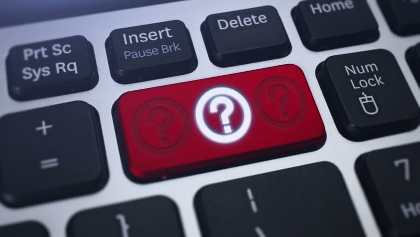 Question Mark. Red computer key with flashing question mark | Shutterstock HD Video #3264634