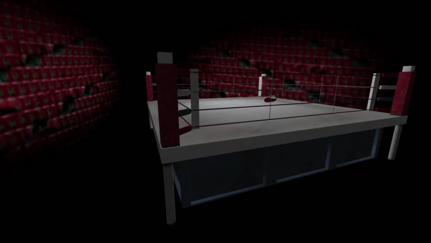 3D boxing ring animation - HD stock footage clip