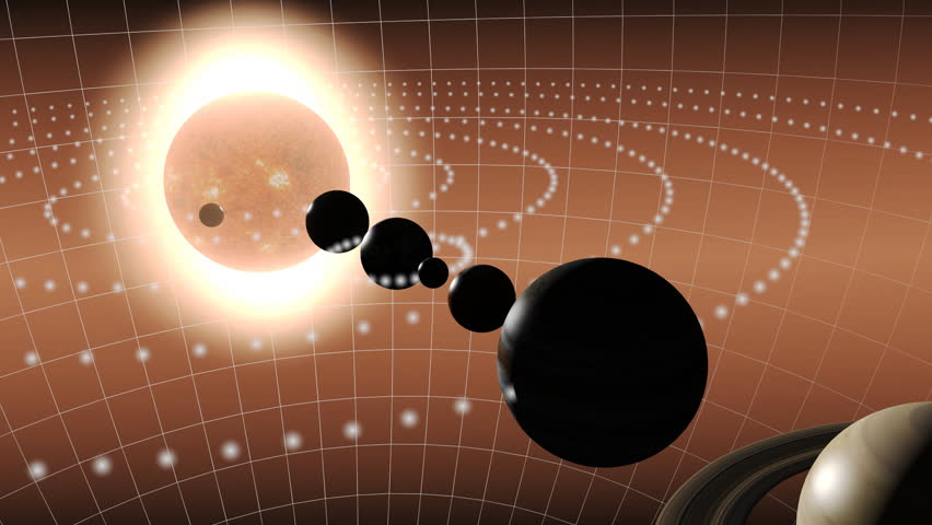 Animation of the solar system - HD stock footage clip