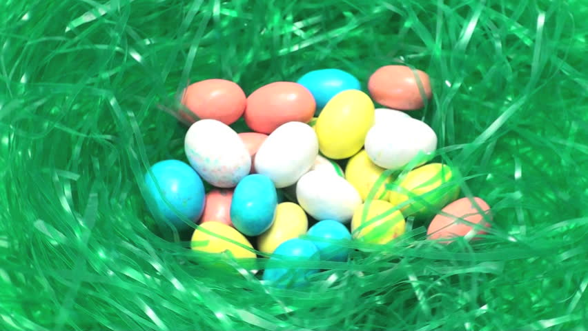 Easter Eggs in Grass - HD stock footage clip