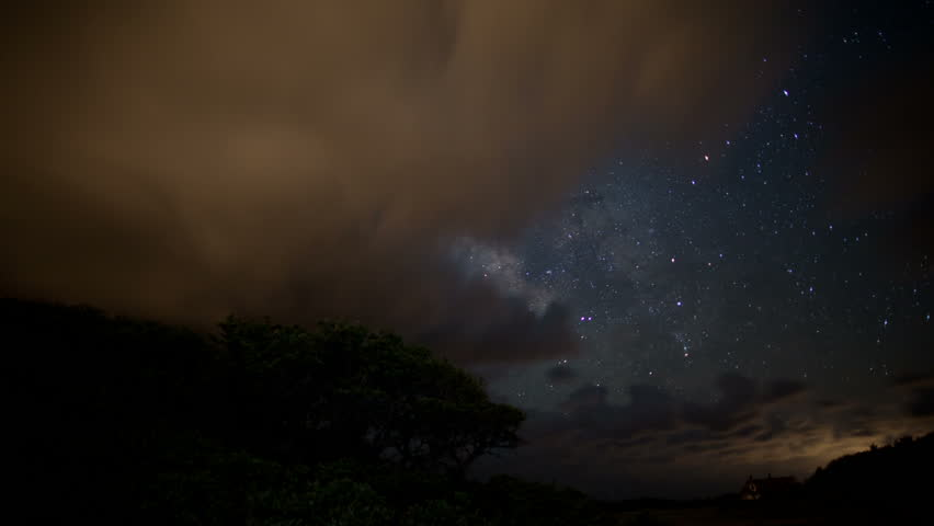 Milky Way star and cloud time-lapse