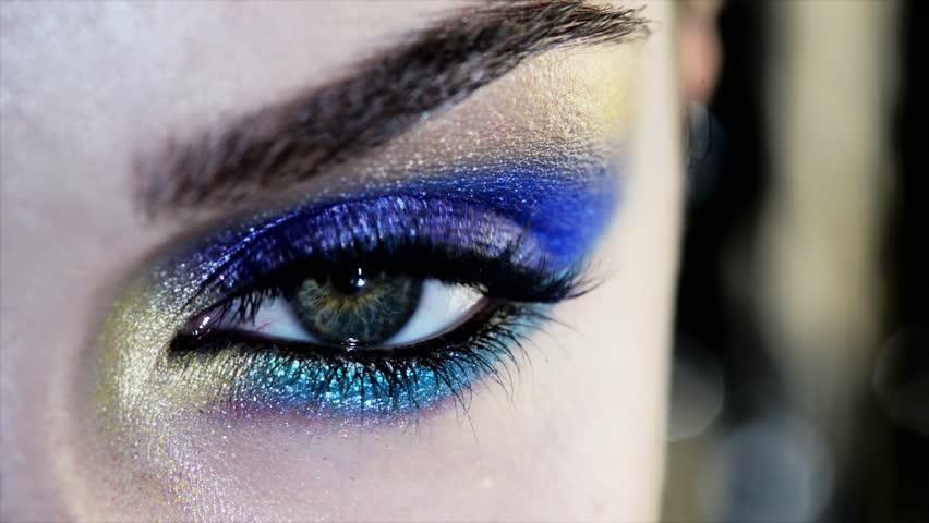 Beauty Human eye close up macro