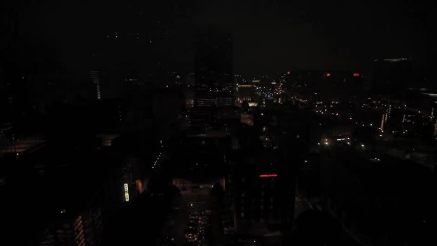 Centennial Tower in Downtown Atlanta, Georgia, at dawn time-lapse.