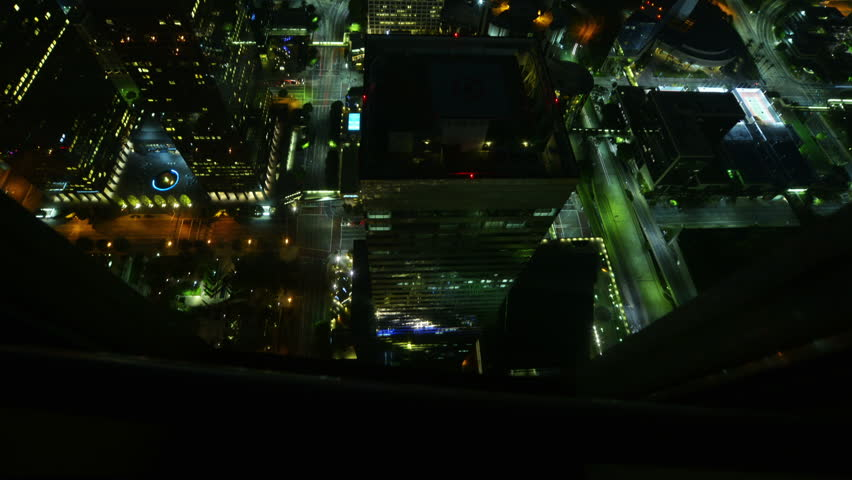 Night Cityscape Timelapse 120 Los Angeles Downtown Traffic Tilt Up