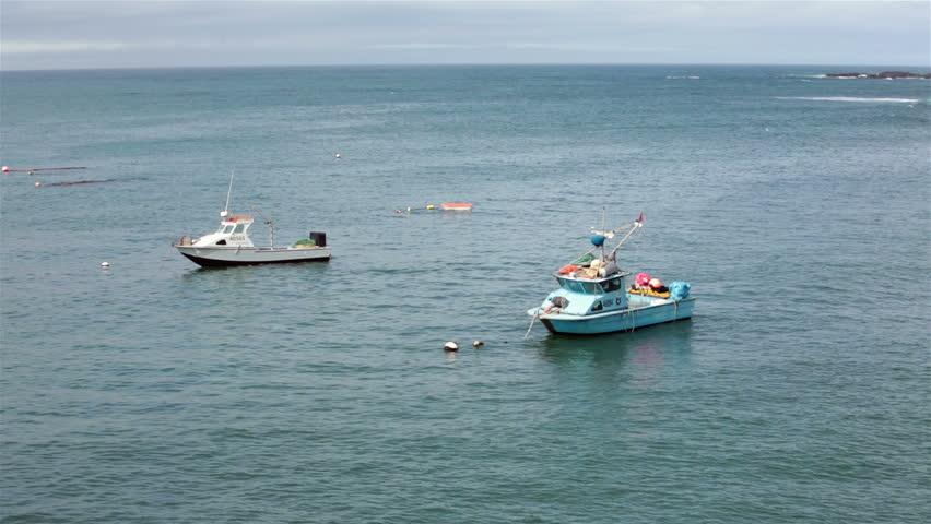 Fishermen On The Boat Fishing In The Sea Full Hd Stock