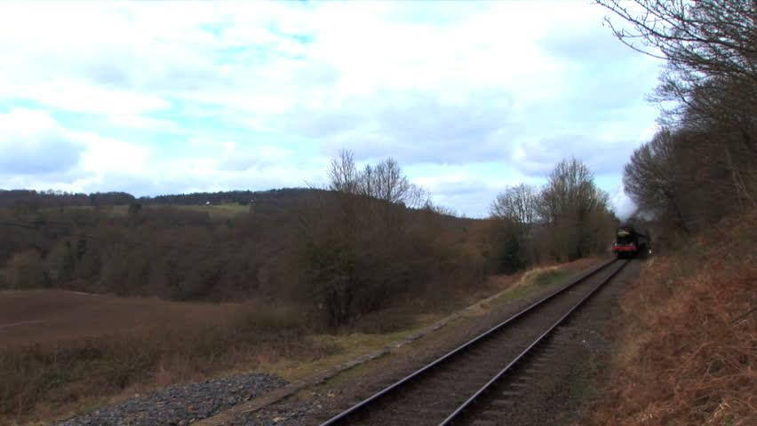 steam train - HD stock footage clip