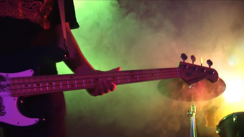 Guitar,drum.  Rock Concert.