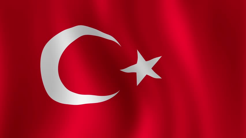 Turkish Flag - looping, waving, LOOP, Beautiful finish looping flag animation of Turkey. Fully digital rendering using official flag design in a waving, full frame composition. Loops at 15 seconds. | Shutterstock HD Video #3968047