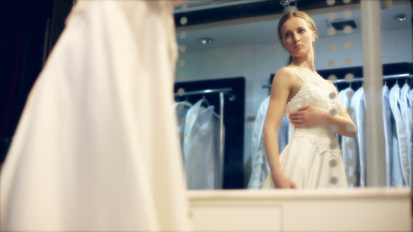 Wedding Gown Fitting - HD stock video clip