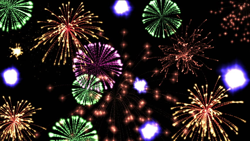 High-definition abstract fireworks video 3d render, HD 1080p | Shutterstock HD Video #3984571