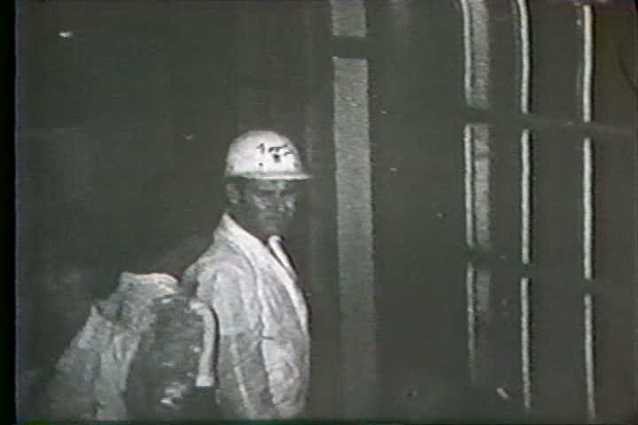 1960s - Hurricane Betsy threatens New Orleans and President Lyndon Johnson surveys the damage. - SD stock video clip