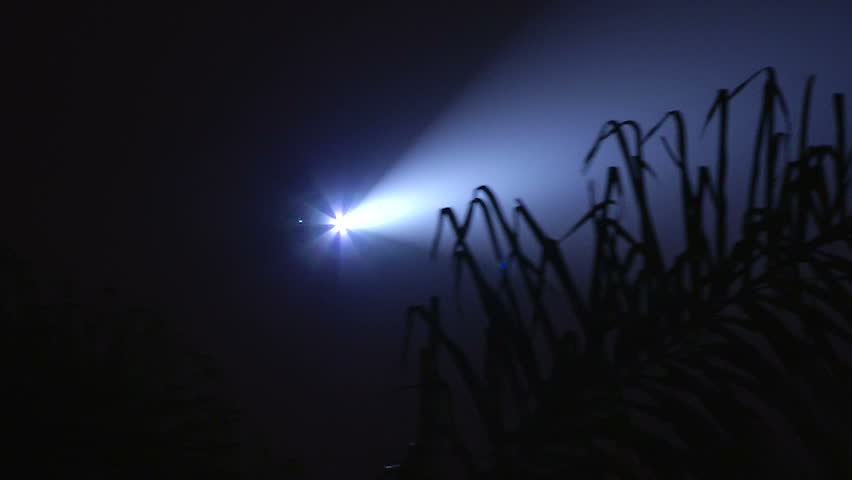 Police Helicopter Searchlight Searches For Suspect 1