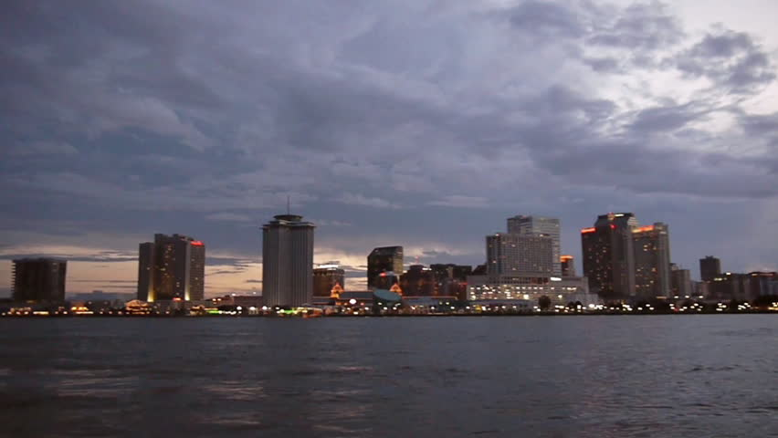 New Orleans, Louisiana -  June, 2011 - Wide shot of the New Orleans skyline.