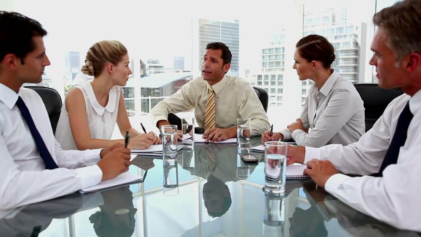 Meeting employees