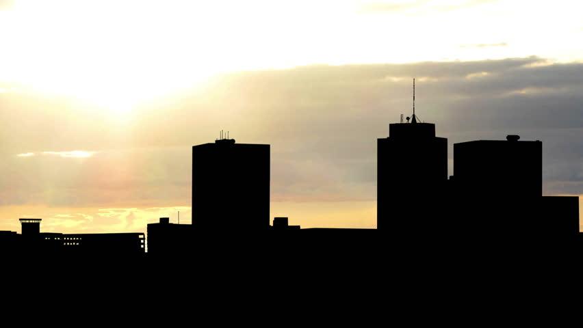 Alaska Anchorage sunset. - HD stock footage clip