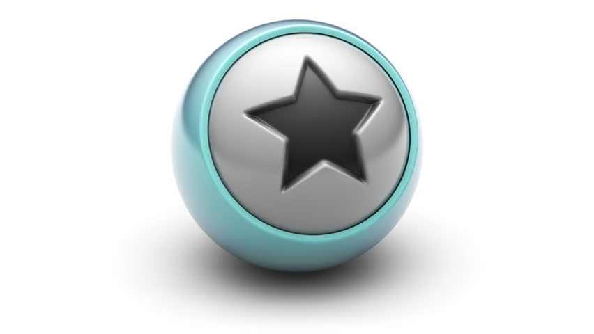 Star icon on ball. Looping.