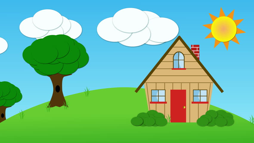 house on hill clipart - photo #36