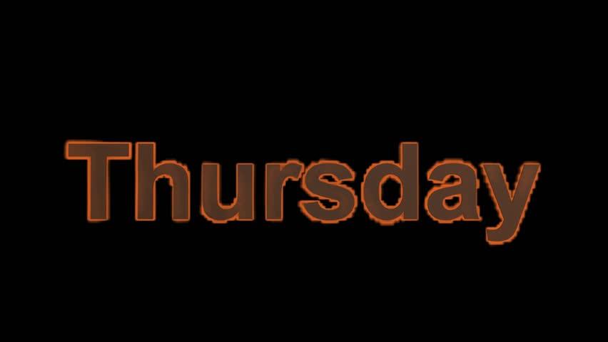 Flame Thursday Word,fi...