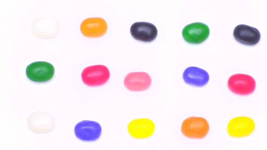 Jelly Beans, stop motion background - HD stock footage clip