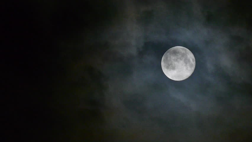 Full moon at night with cloud real no CG | Shutterstock HD Video #4133341