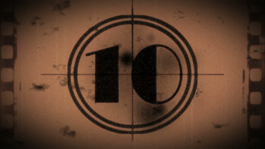 Grunge countdown from ten