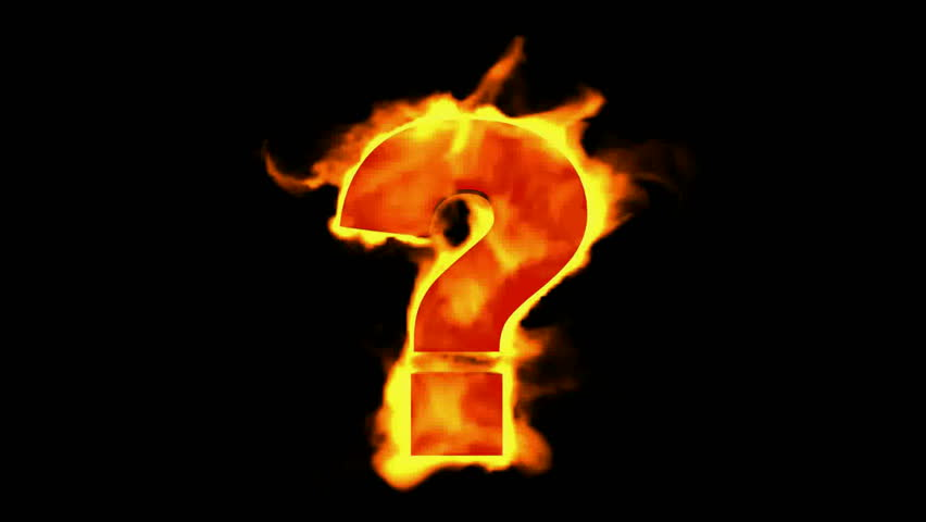 fire Question mark. - HD stock footage clip