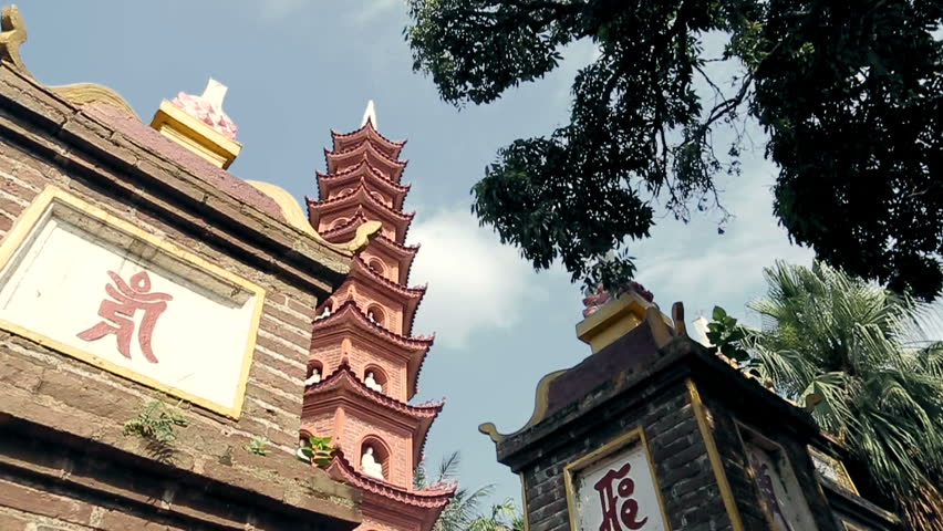 Vietnam, Hanoi - June 02: Temple Tran Quoc Pagoda on June 02, 2013 in Vietnam,Hanoi.