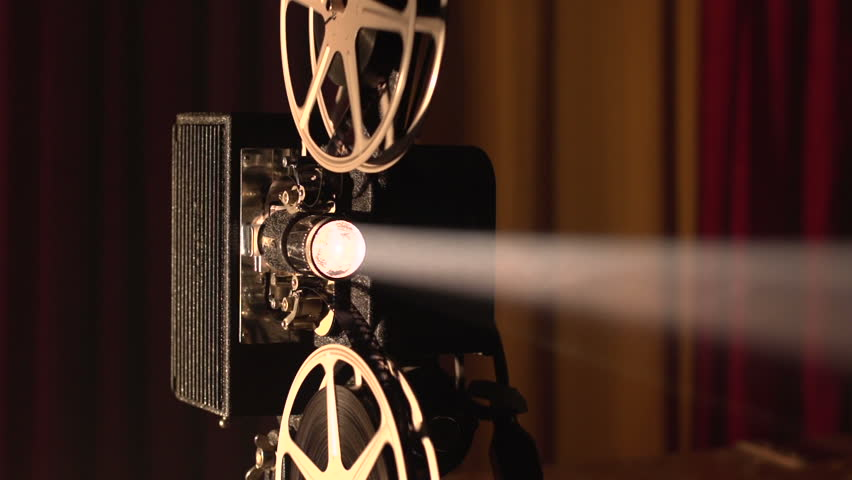 Film Projector, Lens And Light Beam Stock Footage Video ...