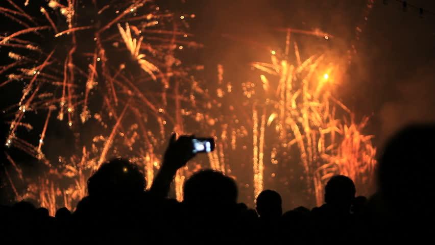 Firework, public, smartphones & tablets. Find similar clips in our portfolio. | Shutterstock HD Video #4168702