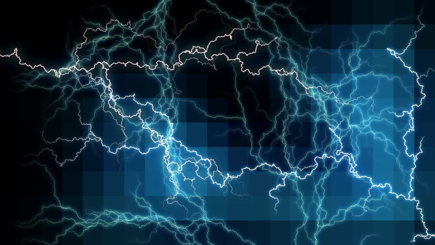 Background with electric energy arcs.