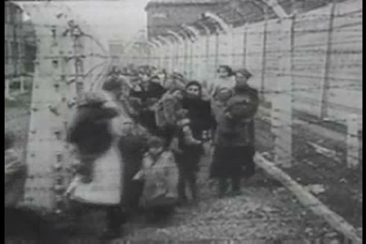 1940s - Survivors of the Holocaust are discovered by Allied forces at concentration camps after World War 2 - SD stock footage clip