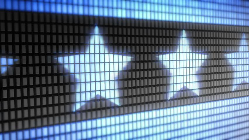 Star shape on screen. Looping.