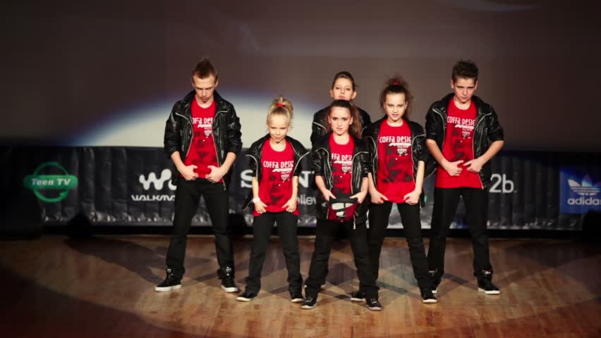 MOSCOW - APR 1: CREWuZ team perform on stage during Hip Hop International - Cup of Russia 2012 in The Palace of Culture MSTU named after Bauman on April 1, 2012 in Moscow, Russia.