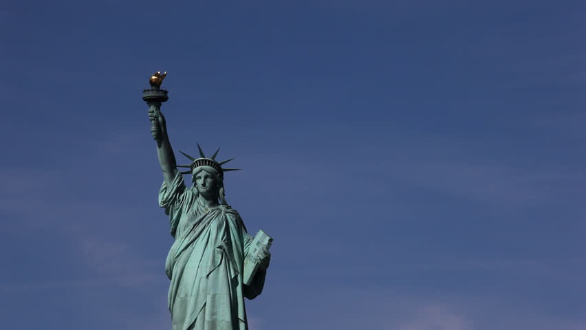 Statue of Liberty shot from a boatride to Liberty Island, New York City / HD1080 / 29.97fps | Shutterstock HD Video #442162