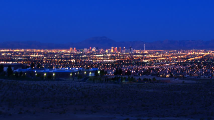 High Definition time lapse of the Las Vegas Valley from a distance. | Shutterstock HD Video #444025