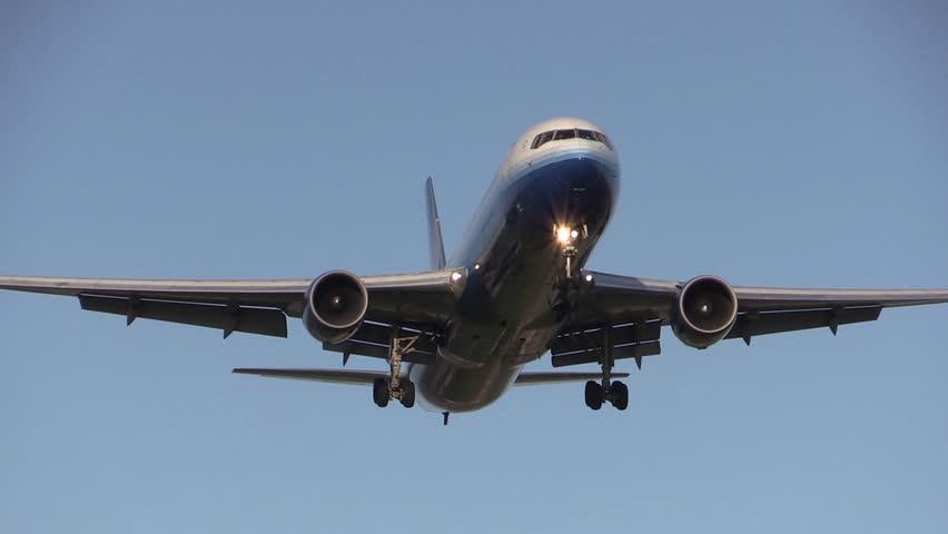 Airplane flying overhead