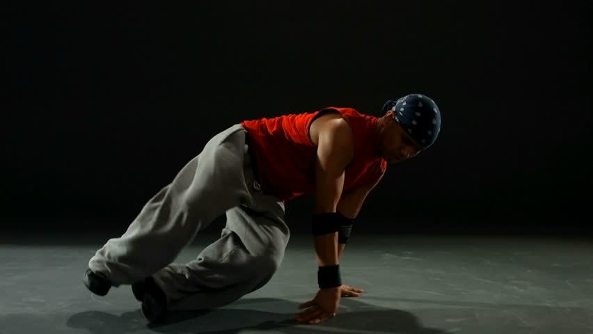 Break dancer, slow motion