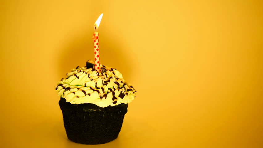 Candle On A Small Birthday Cake Stock Footage Video 469774 ...