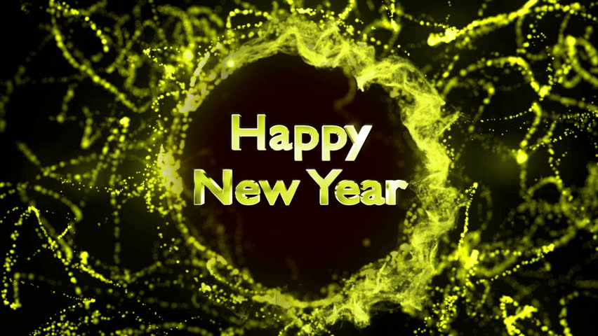 Happy New Year Text in Particles