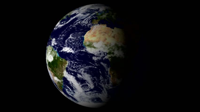 Rotating Earth LOOP - HD stock video clip