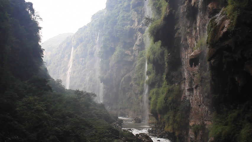 waterfall, Guizhou Province, China. - HD stock video clip