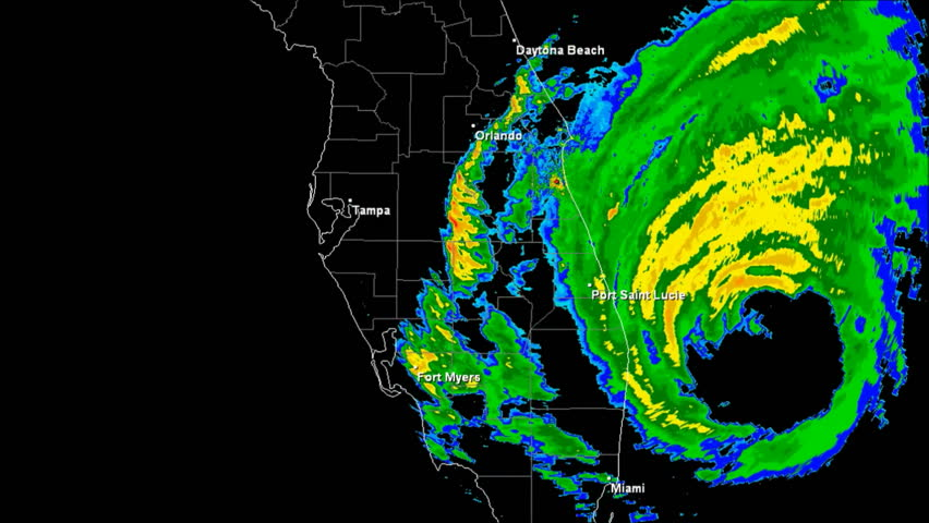 Hurricane Frances (2004) Doppler Radar Landfall Time Lapse / loop 427 frames created using data provided by NOAA County / State borders and geographically correct labels for all major cities visible.